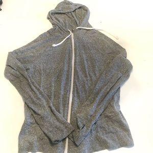 💚 2/30 SO gray hoodie zip-up jacket